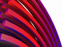 Bent rods. An illustration of colorful bent rods Stock Images