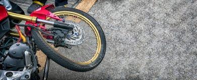 Bent Spoked Wheels Arkivfoton