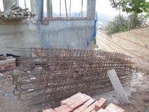 Bent Steel-Stangen Stockfotos