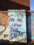 Bent u die uw dromen leven stock fotografie