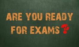 Bent u Klaar voor Examens Bordtextuur Royalty-vrije Stock Foto's