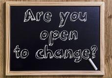 Bent u open aan verandering? royalty-vrije stock foto