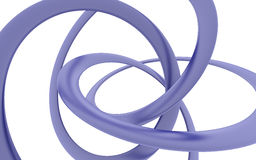 Bent violet helix. On a white background Royalty Free Stock Photography