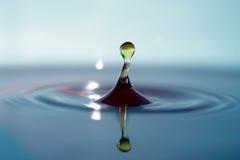 Bent Water Drop. Still water drop stock photos