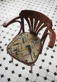 Bent wood dining chair in the restaurant Stock Image
