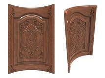 Bent wood door Royalty Free Stock Photos