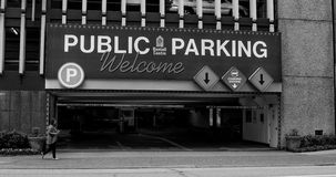 Bentall Centre Public Parking,  Vancouver, BC. Royalty Free Stock Photo