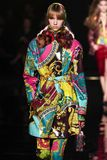 Bente Oort walks the runway at the Versace Pre-Fall 2019 Collection. NEW YORK, NEW YORK - DECEMBER 02: Bente Oort walks the runway at the Versace Pre-Fall 2019 stock photo