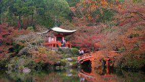 Benten-doe tempel & de herfstkleur stock footage