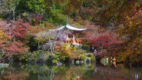 Benten-doe tempel & de herfstkleur, Daigo -daigo-ji tempelgebied stock footage