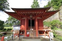 Benten-Halle an Takkou-Höhle Bisyamon-Halle, Hiraizumi stockfotos