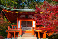 Bentendo Hall i den Daigo Ji templet Arkivbild