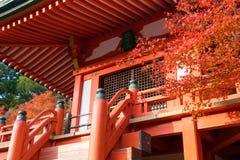 Bentendo Hall i den Daigo Ji templet Royaltyfria Bilder