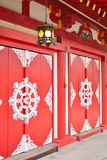 Bentendo temple doors in Tokyo, Japan. Royalty Free Stock Image
