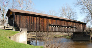 Bentetka Road Covered Bridge Royalty Free Stock Photography