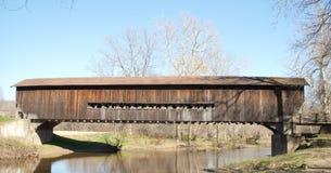 Bentetka Road Covered Bridge. Benetka Road covered bridge in Ashtabula county, Ohio Stock Photo