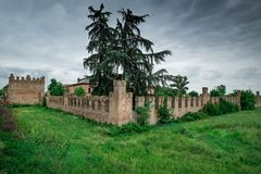 Bentivoglio, Bologna, Emilia-Romagna, Italy. Bentivoglio, ITALY - May 01, 2018: The Castle of Bentivoglio was built between 1475 and 1481 by the lordship of royalty free stock photos