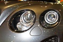 BENTLEY大陆超级体育运动GT的车灯 免版税库存图片