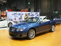 bentley布尔诺大陆gtc汽车展示会速度 免版税库存图片