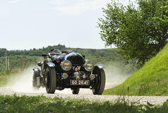 BENTLEY 4 ½ Litre Supercharged (1930). A BENTLEY 4 ½ Litre Supercharged (1930) attends the mille miglia historic race on May 21 2012,  The rally will feature Royalty Free Stock Photos