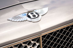 Bentley Abzeichen Stockfoto