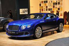Bentley azul GT APRESSA-SE Foto de Stock Royalty Free