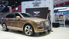Bentley Bentayga bij de 34ste Motor Expo 2017 Stock Foto's