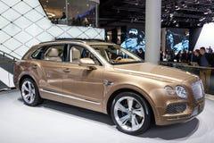 Bentley Bentayga am IAA 2015 Stockbilder