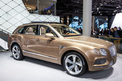 Bentley Bentayga at the IAA 2015. FRANKFURT, GERMANY - SEP 22: Bentley Bentayga Luxury SUV at the IAA International Motor Show 2015. September 22, 2015 in Stock Images