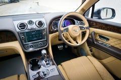 Bentley Bentayga W12 Interior Stock Image