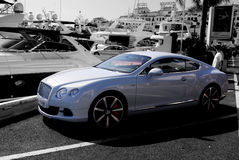 Bentley Black White Port Royaltyfri Fotografi