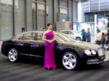 Bentley cars at the auto show Royalty Free Stock Photography