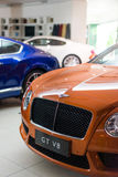 Bentley cars for sale. Bentley cars in showroom for sale,Bentley GT V8.  2014.06 Royalty Free Stock Images
