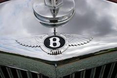 Bentley Classic Chrome Cowl Badge Stockfoto