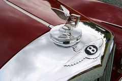 Bentley Classic Chrome Cowl Badge. Bentley `Winged B` Classic Chrome Radiator Cowl Badge and Hood Ornament Royalty Free Stock Photography