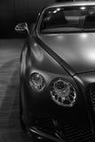 Bentley Continenta黑白的GT Mulliner 免版税图库摄影