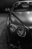 Bentley  Continenta GT Mulliner in black and white Royalty Free Stock Photography