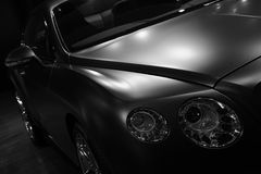 Bentley Continenta GT Mulliner en noir et blanc Photo stock