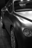 Bentley Continenta GT Mulliner en noir et blanc Images libres de droits