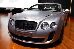 Bentley continental en la demostración de motor 2010, Ginebra Fotos de archivo libres de regalías