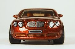 Bentley Continental GT 2006. Bentley Continental GT, Matchbox 2009 #39, pkg ID P2935, head-on view Royalty Free Stock Photo