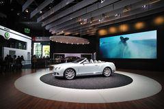 Bentley Continental GT luxury car. Bentley luxury car inside showroom salon stock photography