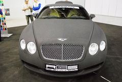 The Bentley Continental GT car at an exhibition in `Crocus Expo`, 2012. Moscow Stock Images