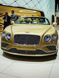 Bentley Continental GT Convertible, Motor Show Geneve 2015. Royalty Free Stock Image