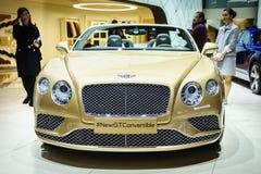 Bentley Continental GT Convertible, Motor Show Geneve 2015. Stock Image