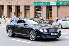 Bentley Continental GT. MOSCOW, RUSSIA - JUNE 2, 2013: Motor car Bentley Continental GT at the city street Royalty Free Stock Images