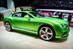 Bentley Continental GT Speed, Motor Show Geneve 2015. Stock Photos