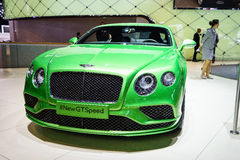 Bentley Continental GT Speed, Motor Show Geneve 2015. Royalty Free Stock Images