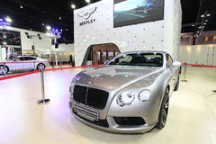 Bentley Continental GT V8 Convertible car on display Royalty Free Stock Images
