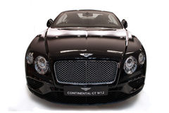 Bentley Continental GT W12. Black Bentley Continental GT W12. Photo have been taken on moto car show in Belgrade Serbia.The Bentley Continental GT is a grand Stock Image